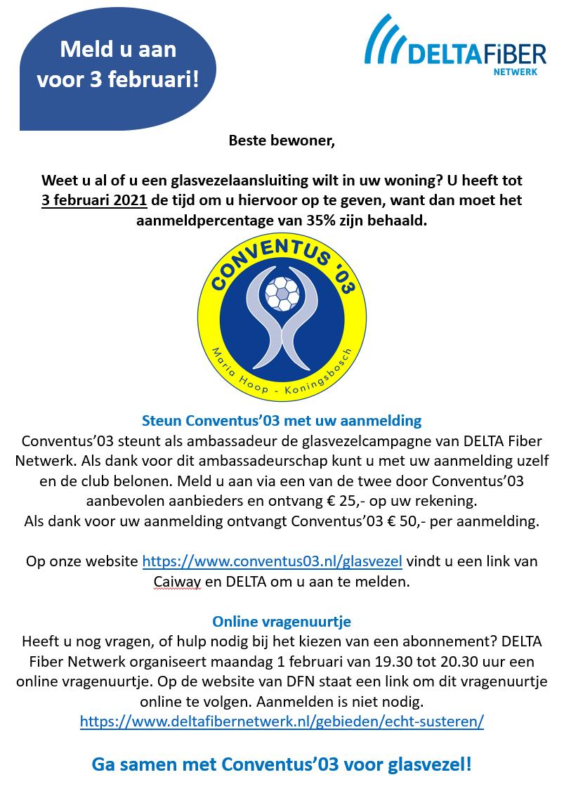 Finale DeltaFiber Clubactie glasvezelcampagne